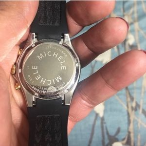 Michele Accessories - Michele Tahitian Jelly Large Black Watch